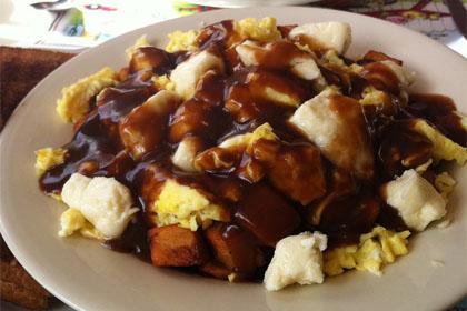 Breakfast poutine - Chez Ben Diner (Manchester) - MaPoutine.ca
