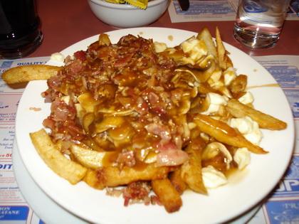 Poutine champignon bacon - Café aux Délices (Matane) - MaPoutine.ca