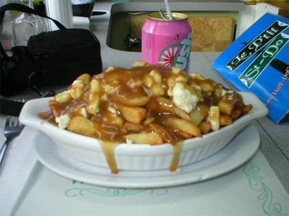Poutine sauce hot-chicken - Le P
