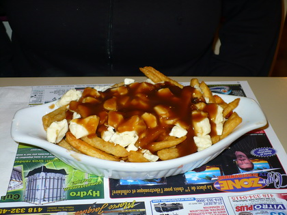 Poutine extra fromage frites ordinaires - Med